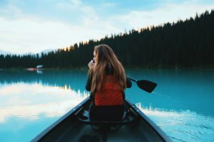 Canoe Girl rest